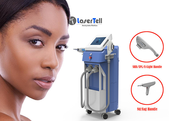 E Light SHR Hair Removal Machine 3 In 1 Laser Tattoo Removal Kinerja Tinggi